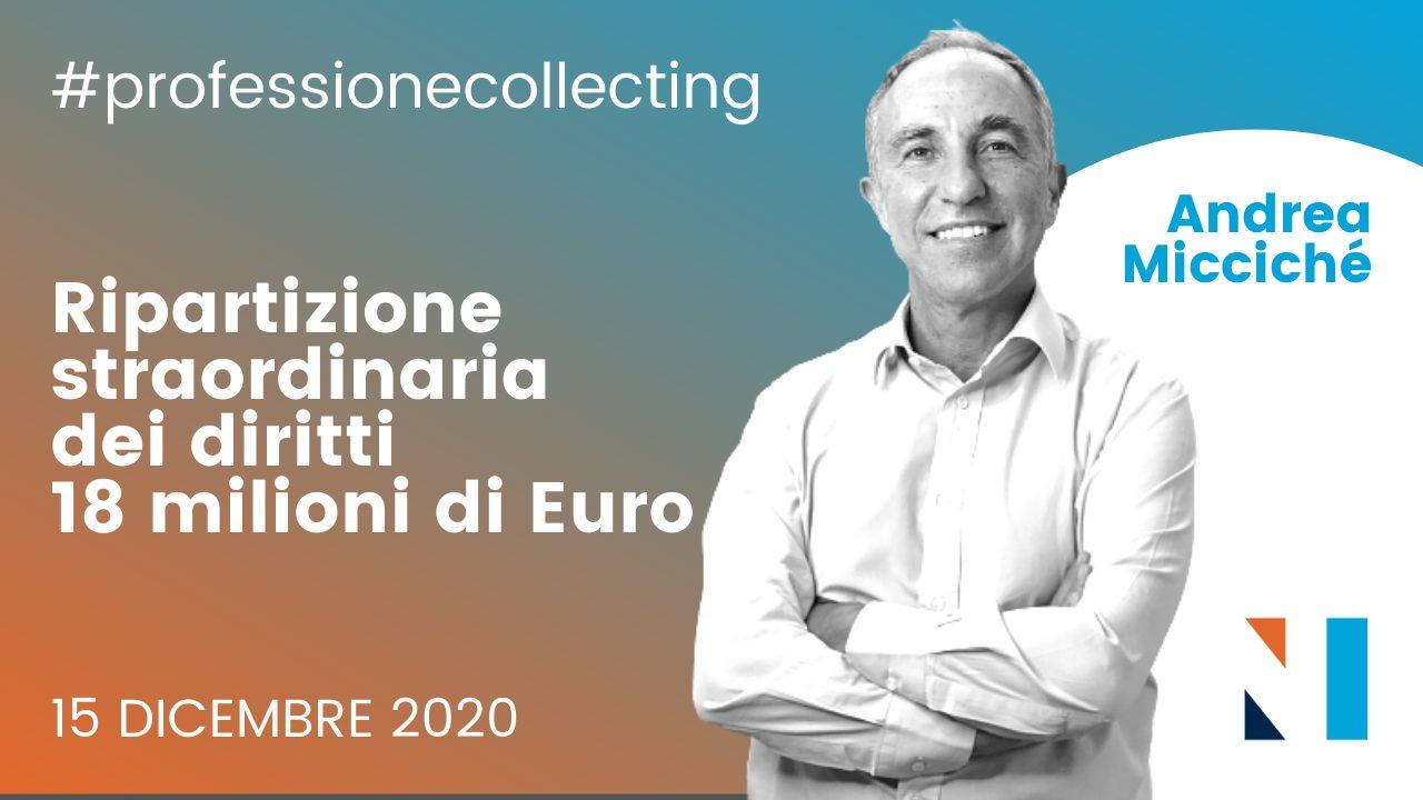 Ripartizione straordinaria dei diritti (18 milioni di Euro): LIVE con Andrea Miccichè