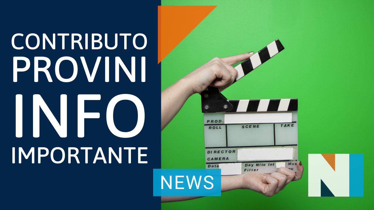 Contributo Provini 2021: info Importante