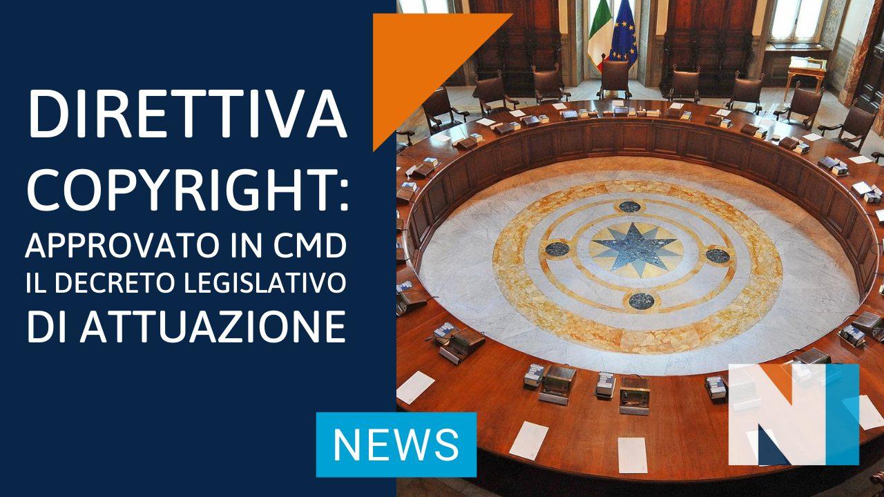 Direttiva Copyright: approvato in CdM il Decreto Legislativo di attuazione. Accolte le proposte di NUOVO IMAIE