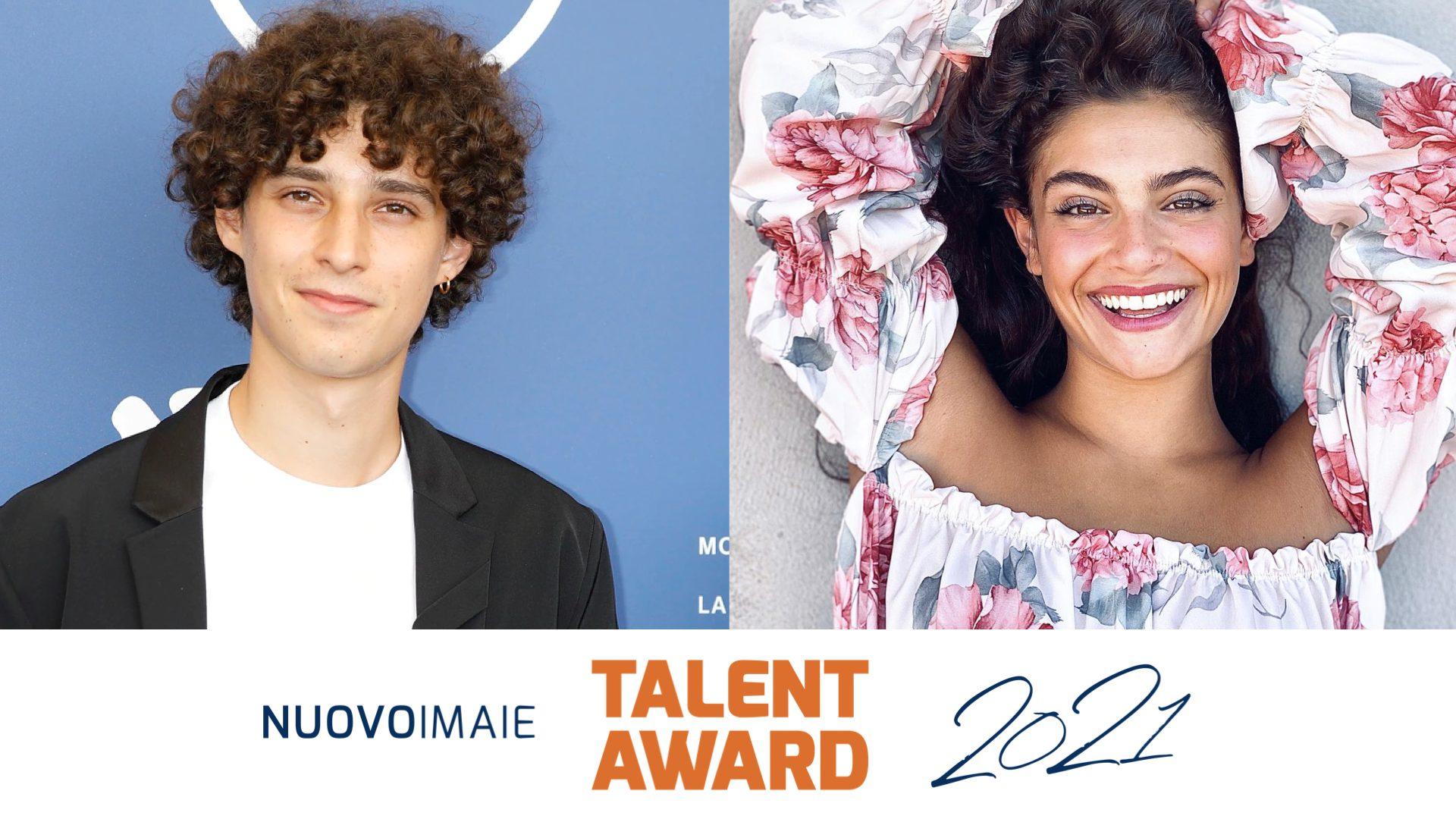NUOVO IMAIE Talent Award 2021 ad Aurora Giovinazzo e Filippo Scotti 👏👏