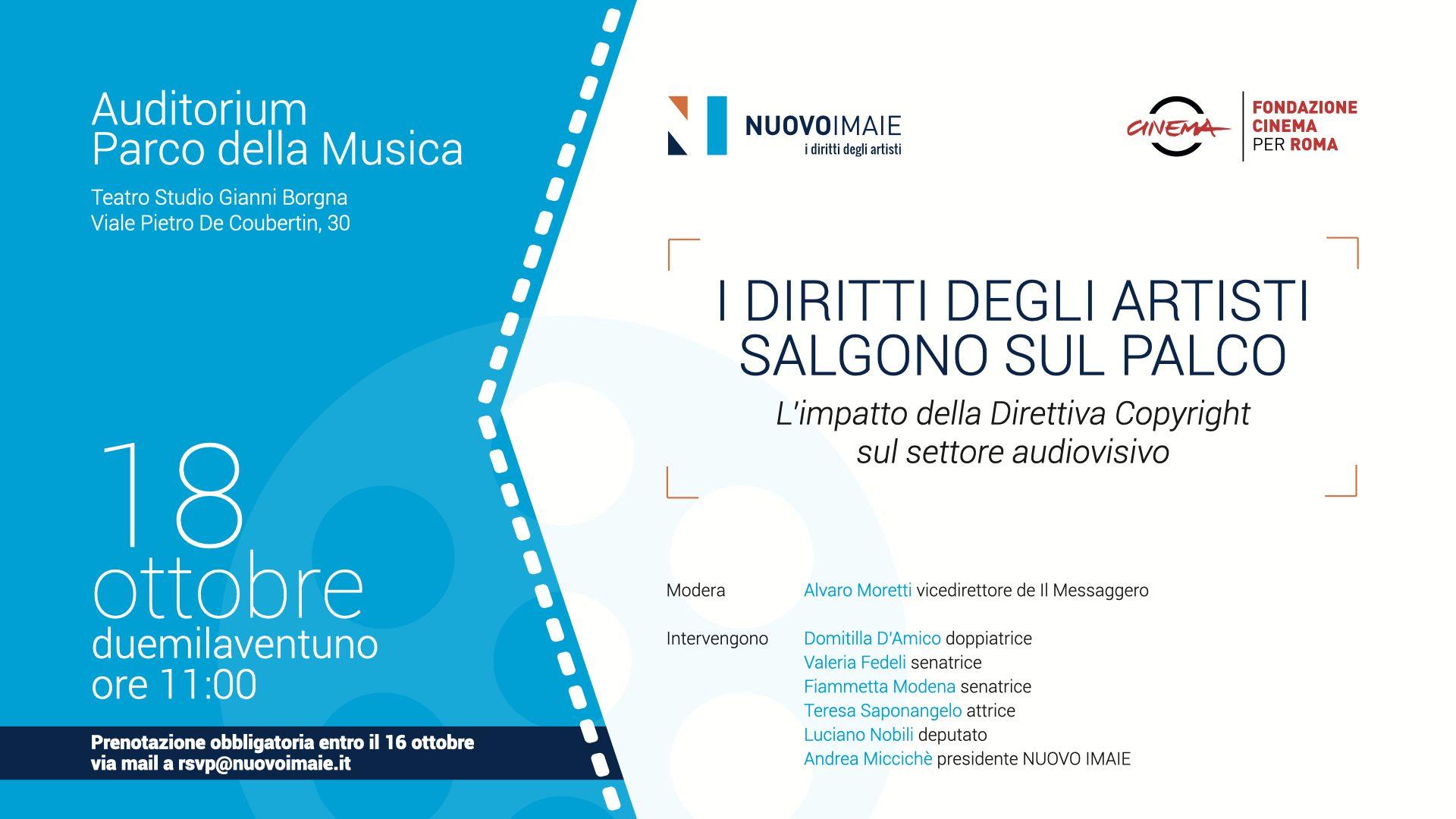 Festa del Cinema di Roma: Panel NUOVO IMAIE sulla Direttiva Copyright